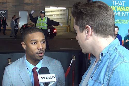 'That Awkward Moment' Premiere: Michael B. Jordan Reveals His Most Awkward Encounter With a Fan (Video)