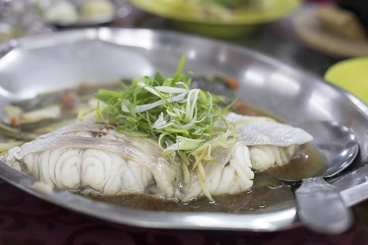 You can't visit a seafood restaurant without ordering some steamed fish