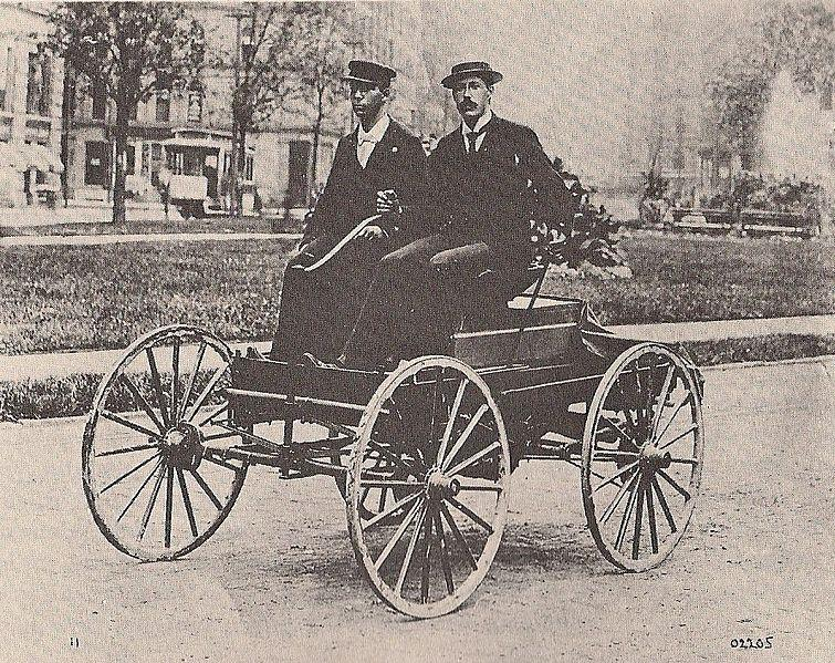 On this date, March 6, 1896, Charles King drove the first car in Detroit