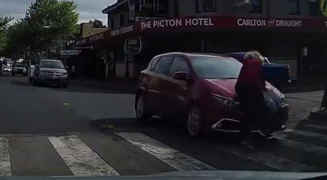 WATCH: Woman hit by car on pedestrian crossing - but some