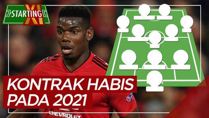 MOTION GRAFIS: Starting XI Pemain Premier League yang Kontraknya Habis pada 2021, di Antaranya Pemain Manchester United