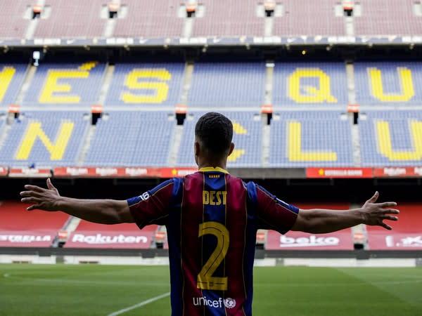 Sergino Dest (Photo/ Barcelona Twitter)