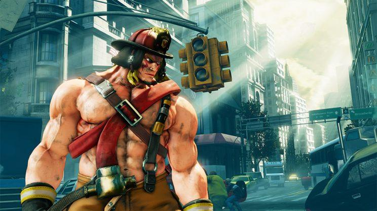 Alex as seen in his new 'work' costume in Street Fighter V
