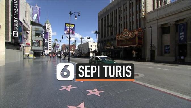 VIDEO: Kondisi Terkini Hollywood, Sepi Seperti Kota Mati