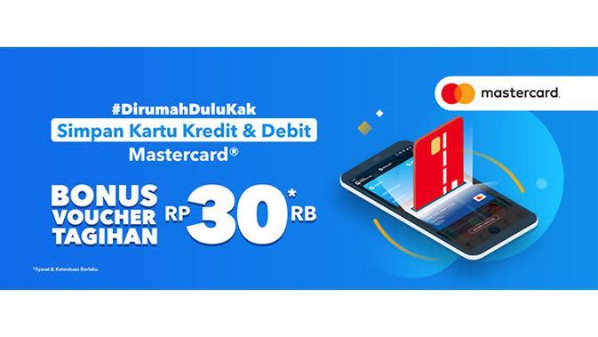 Jika kamu menyimpan kartu debit dan kartu kredit berlogo Mastercard pada fitur Simpan Kartu di DANA bakal mendapatkann bonus voucher tagihan sebesar Rp30 Ribu.