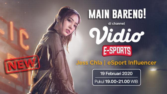Jess Chla Main PUBG Mobile Besok di Vidio Esports