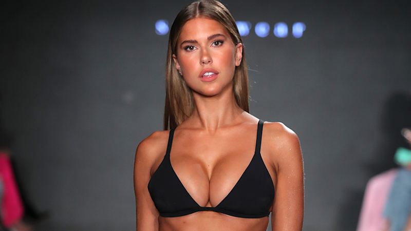 Less was more at the Revival Swimwear show at New York Fashion Week. Photo: Getty