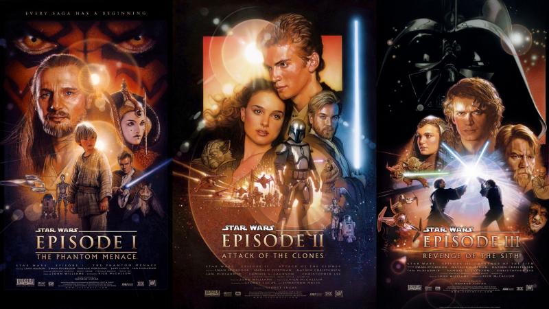 Star Wars Episodes I to III. Images via IMDB.