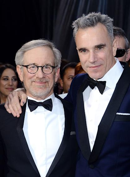 85th Annual Academy Awards - Arrivals: Steven Spielberg and Daniel Day-Lewis