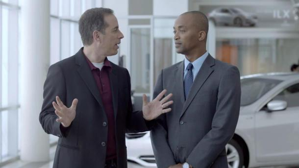 "Seinfeld's Acura ad for Super Bowl sought ""not too dark"" black actor for dealer role (UPDATED)"
