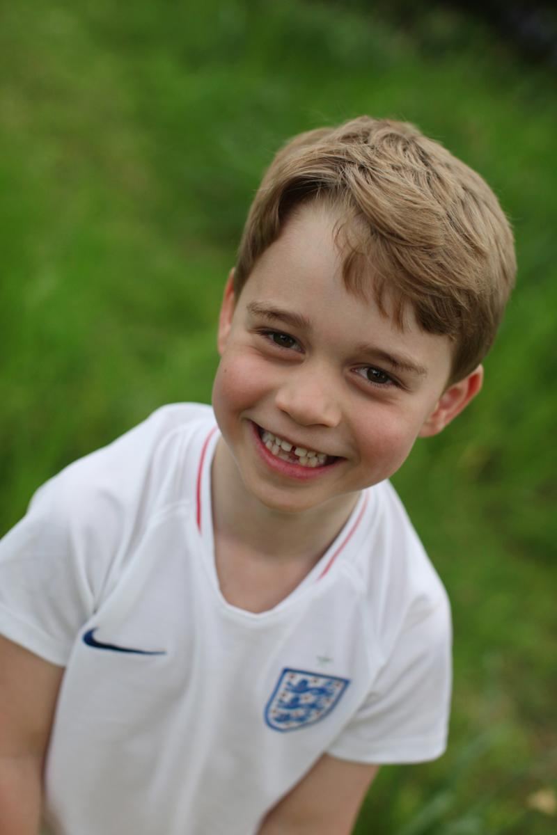 Prince George in a England jersey