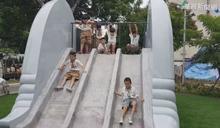 動物溜滑梯公園 小朋友盡情「放電」