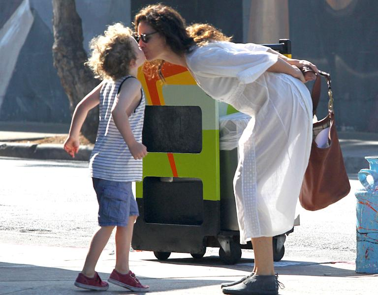 Minnie Driver Takes Henry To Breakfast