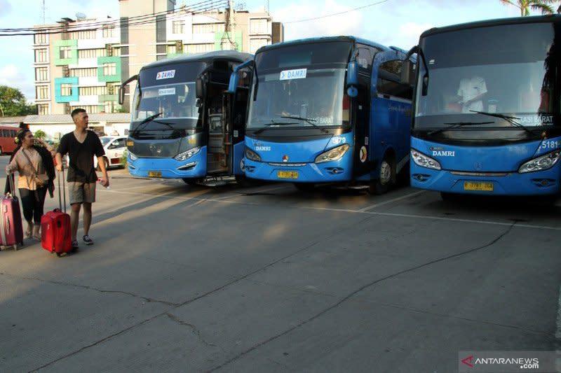 Akibat COVID-19, operasional Bus Damri Soekarno-Hatta dihentikan total