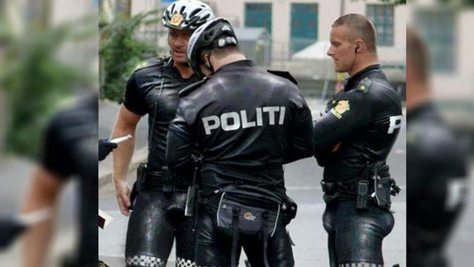 Sampai hari ini pengguna jejaring sosial tengah diramaikan dengan beredarnya foto polisi Norwegia yang mengenakan seragam tugasnya.