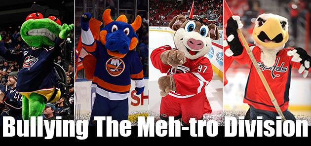 Which NHL teams have bullied the terrible Metropolitan Division most?