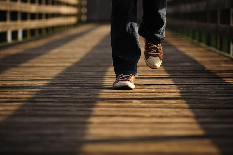 Personal power generator harvests energy from the breeze you make when you walk