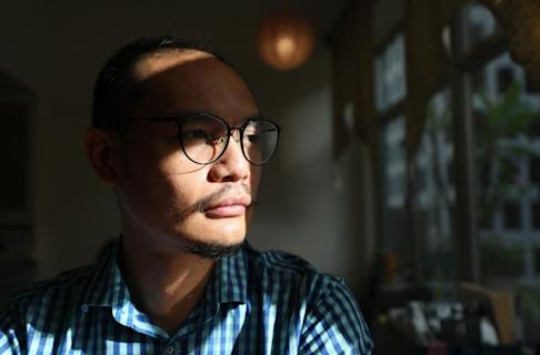 Daniel Lee, partner of Hong Kong Reader, is waiting to see the contents of the national security law and what impact it could have on his bookstore. Photo: Xiaomei Chen