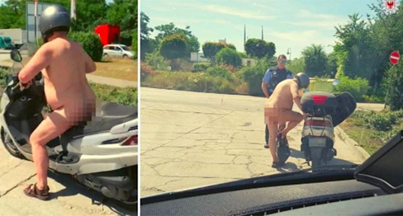 The man claimed he stripped down to try and cope with the heatwave. Source: Brandenburg Police