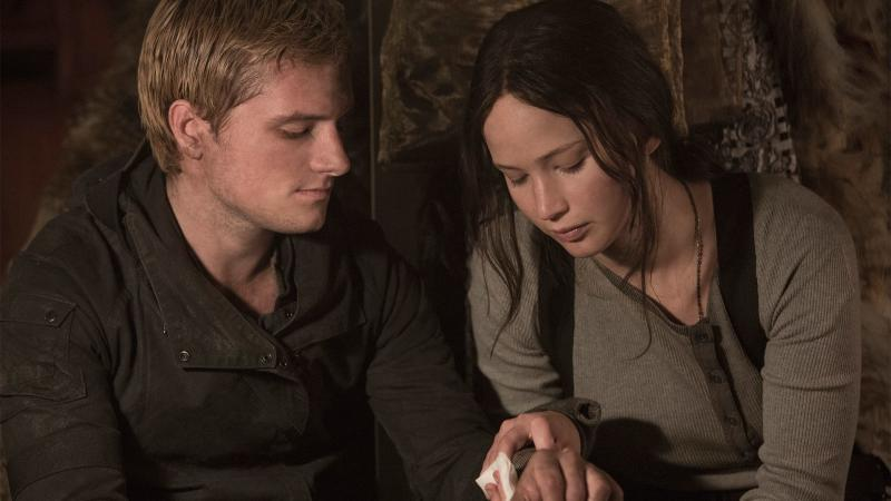 Josh Hutcherson and Jennifer Lawrence in 'The Hunger Games: Mockingjay Pt. 2' (Lionsgate)