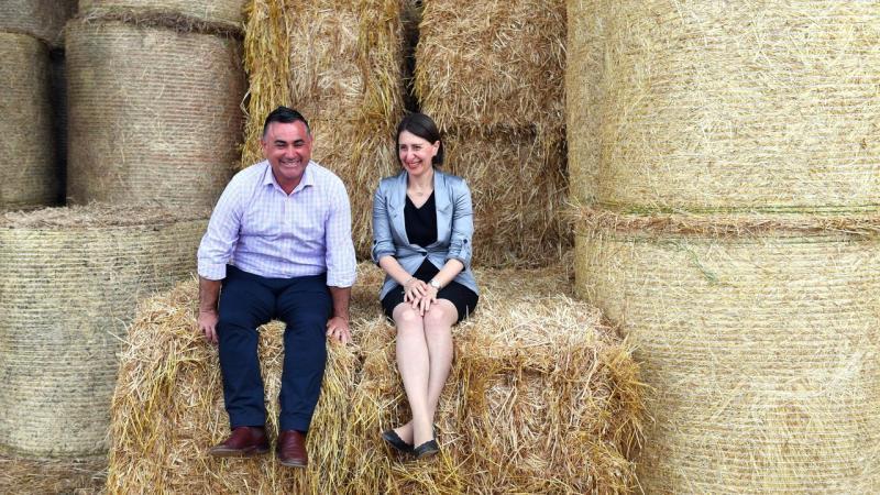 NSW Premier Gladys Berejiklian and Deputy Premier John Barilaro have visited a Lismore farm
