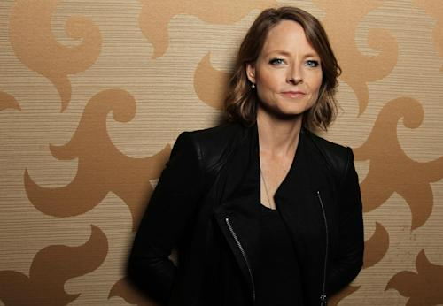 "FILE - In this July 13, 2012 file photo, actress, Jodie Foster, from the upcoming film ""Elysium,"" poses for a portrait during Comic-Con, in San Diego. Foster is famous for the strong screen persona and versatile talent she's displayed over her 47 years as an actress. (Photo by Matt Sayles/Invision/AP, File)"