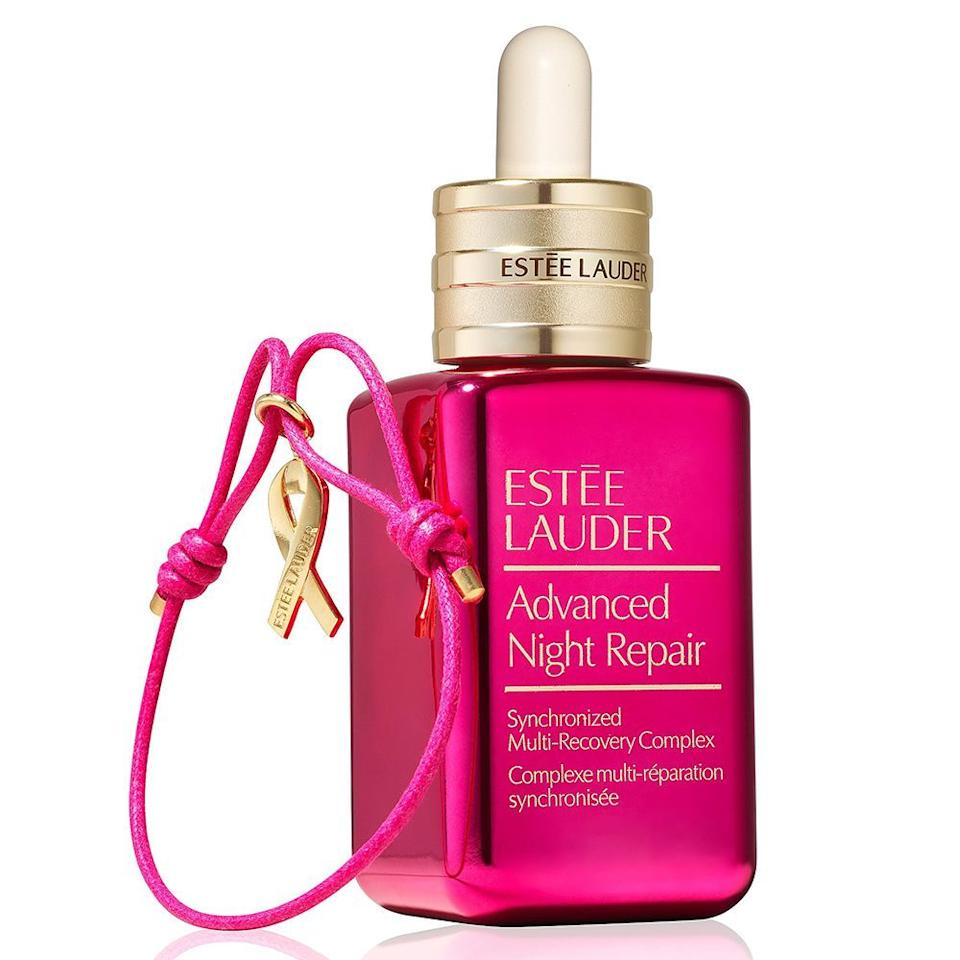 """<p><strong>Estee Lauder</strong></p><p>esteelauder.com</p><p><strong>$105.00</strong></p><p><a href=""""https://go.redirectingat.com?id=74968X1596630&url=https%3A%2F%2Fwww.esteelauder.com%2Fproduct%2F707%2F77577%2FProduct-Catalog%2FSets-Gifts%2FSkincare-Sets-Gifts%2FAdvanced-Night-Repair-with-Pink-Ribbon-Bracelet%2FThe-New-Serum-Limited-Edition-Collectible&sref=https%3A%2F%2Fwww.elle.com%2Ffashion%2Fshopping%2Fg34276577%2Fbca-awareness-month-fashion%2F"""" target=""""_blank"""">Shop Now</a></p><p>The Breast Cancer Research Foundation® was founded by Evelyn H. Lauder in 1993 to fund the most promising breast cancer research worldwide. Its mission: prevention and a cure within our lifetime. Estée Lauder continues the fight with this limited edition pink bottle. </p>"""