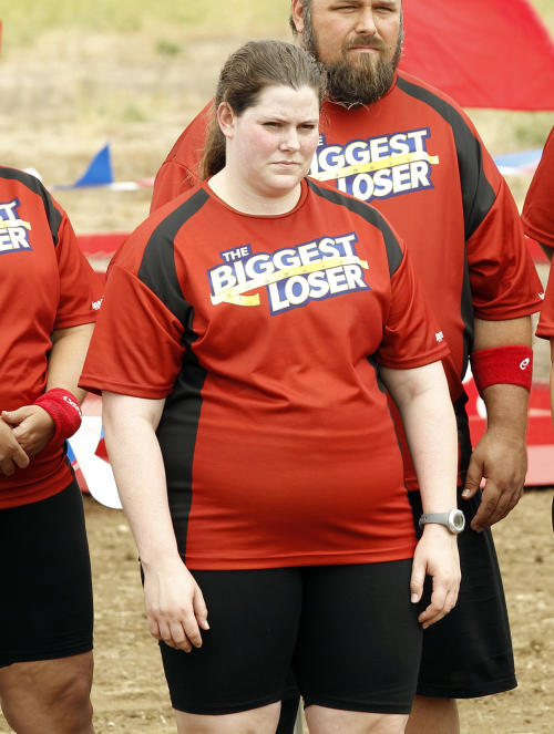 "This image released by NBC shows contestant Rachel Frederickson in a scene from the second episode of ""The Biggest Loser."" Fredrickson lost nearly 60 percent of her body weight to win the latest season of ""The Biggest Loser"" and pocket $250,000. A day after her grand unveiling on NBC, she faced a firestorm of criticism in social media from people who said she went too far. (AP Photo/NBC, Trae Patton)"