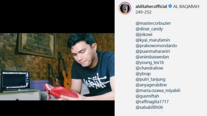 Unggah Video Mengaji, Aldi Taher Tandai Akun Instagram Miyabi