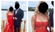 參加婚禮穿「透視蕾絲」洋裝!眾看傻:故意搶新娘鋒頭?