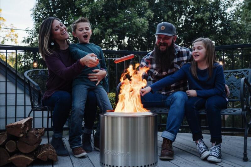 Solo Stove Ranger Stainless Steel Wood Burning Fire Pit (Credit: Wayfair)