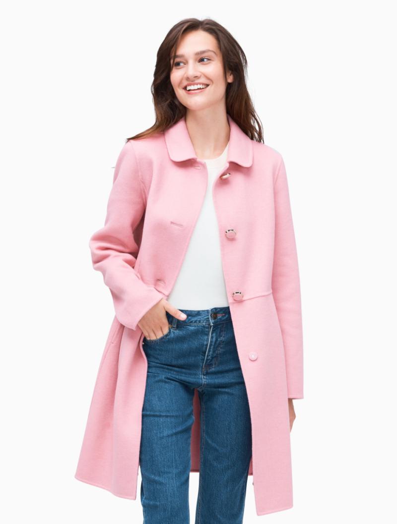 Kate Spade Wool Jacket in Pink (Photo via Kate Spade)