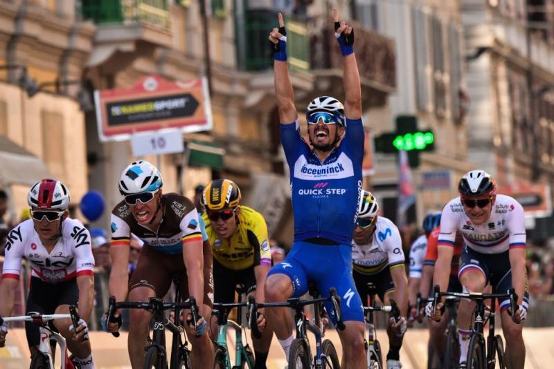 Deceuninck-QuickStep's Julian Alaphilippe wins the 2019 Milan-San Remo