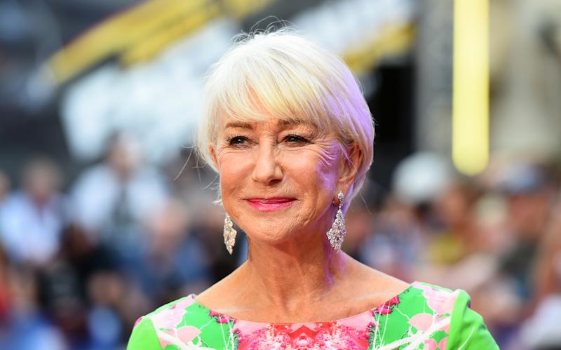 A photo of Helen Mirren at a special screening of Fast & Furious Presents: Hobbs and Shaw, held at Curzon Mayfair, London.