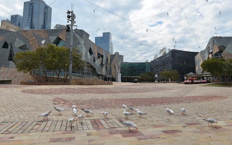A deserted view from Melbourne city - Anadolu