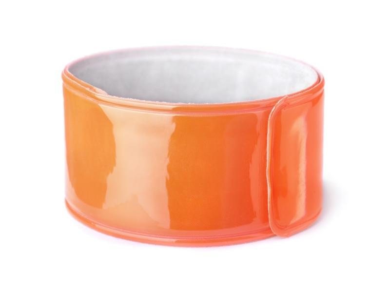 orange slap bracelet