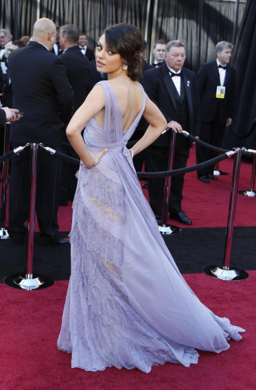 """Black Swan"" cast member Kunis poses on red carpet at the 83rd Academy Awards in Hollywood"