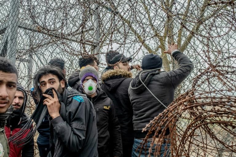 Migrants arriving at the Turkish border with Greece faced barbed wire, border guards and tear gas