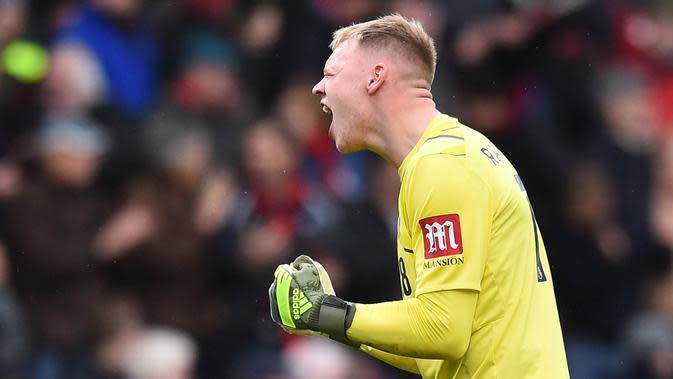 Kiper Bournemouth, Aaron Ramsdale. (AFP/Glyn Kirk)