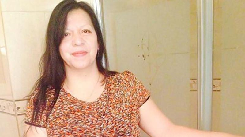 Pictured is Maria Palaguachi was killed by her niece with a meat cleaver in March 2017. Source: Facebook.