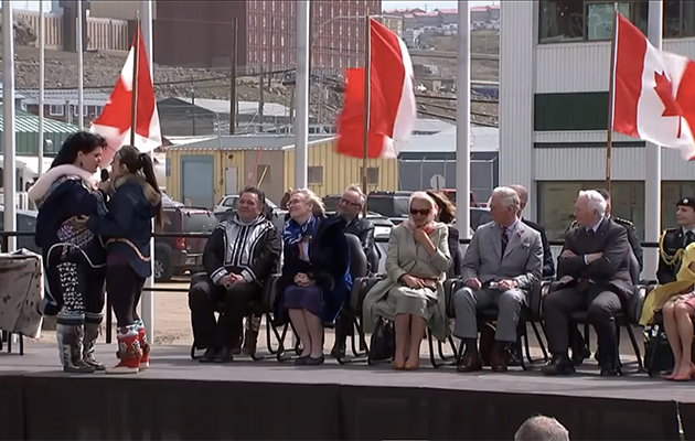 They were treated to an Inuit throat singing performance. Photo: YouTube