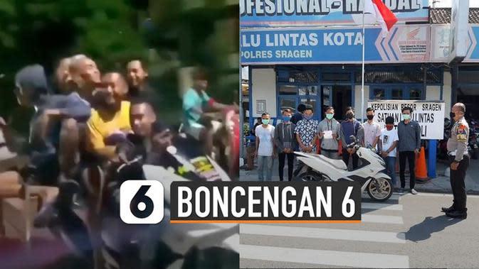 VIDEO: Viral Aksi Remaja Boncengan 6 orang 1 Motor