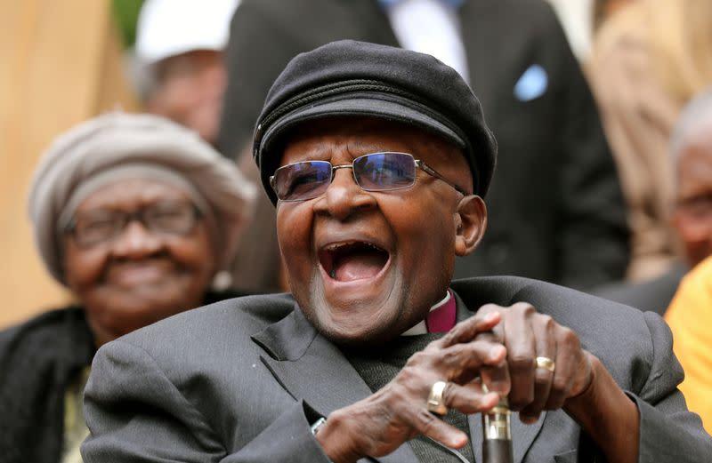 South African anti-apartheid campaigner Archbishop Tutu in hospital