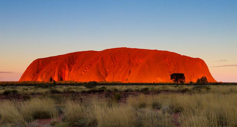 The video was filmed on top of Uluru, in the Northern Territory.