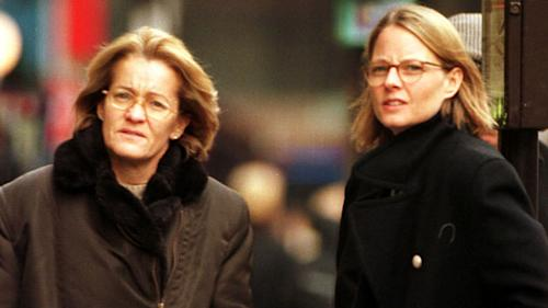 Who is the woman Jodie Foster mentioned in her Golden Globes speech?
