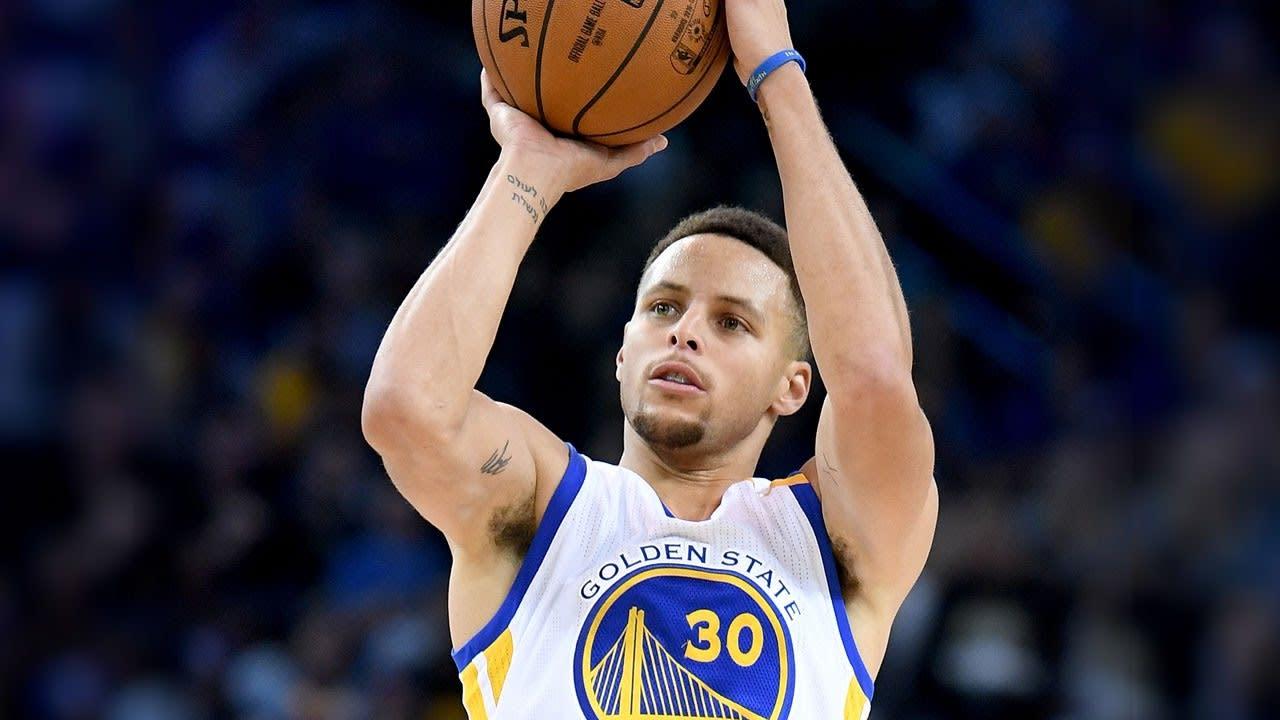 NBA金州勇士隊球星Stephen Curry。