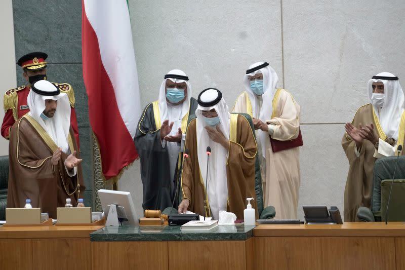 Kuwait's new emir meets senior U.S. and Iranian officials