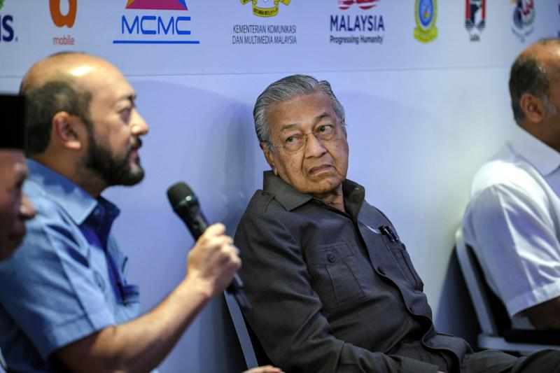 Mahathir said the suggestion for Mukhriz to become DPM 2 did not come from him. — Bernama pic