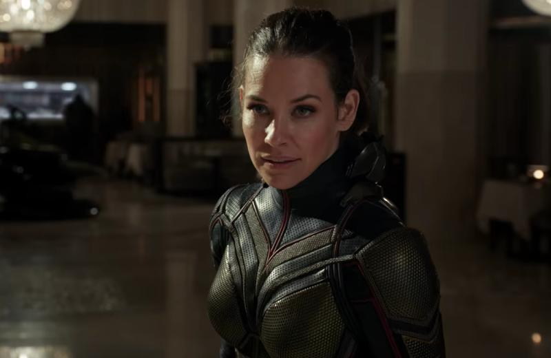 Evangeline Lilly plays the Wasp, the first female Marvel superhero to get her name in the film's title.
