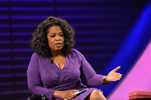 "This image released by the Women in the World Conference OWN CEO Oprah Winfrey, during a panel discussion called ""Oprah: Meet My Hero,"" at the 2013 Women in the World Summit in New York. (AP Photo/Women in the World Conference, Marc Bryan-Brown)"